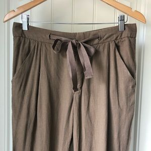 Free People linen ankle pants